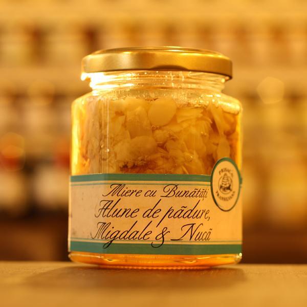 Miere cu alune migdale nuca 200g - Prisaca Transilvania 0