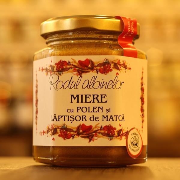 Miere cu polen si laptisor de matca 200g - Prisaca Transilvania 0