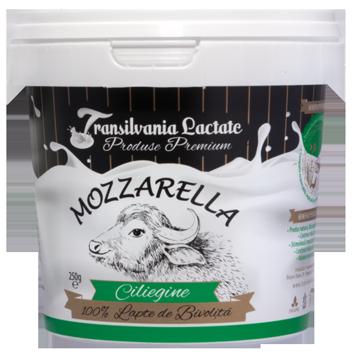 Mozzarella (ciliegine - 8 bile mici) 250g - Transilvania Lactate 0
