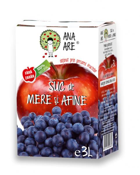 Suc de mere si afine 100 % natural  - 3L 0