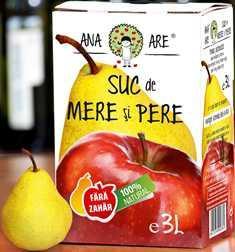 Suc de mere si pere 100% natural 3L - Ana are 0