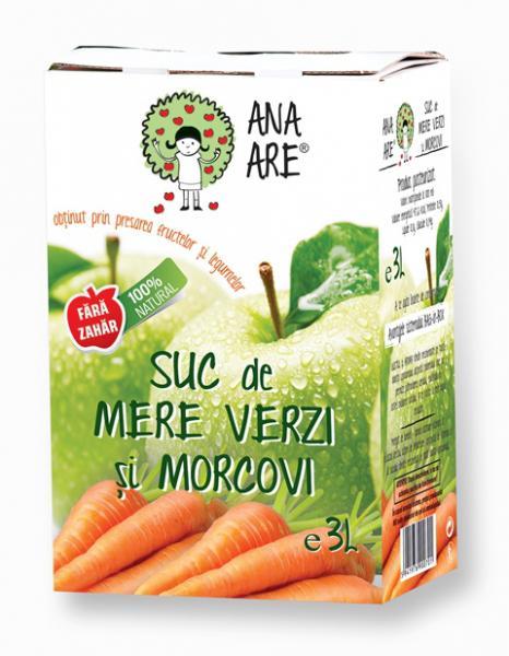 Suc de mere verzi si morcovi 100% natural 3L - Ana are 0