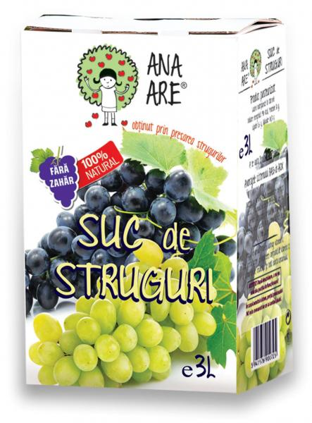 Suc de struguri  100% natural 3L - Ana are 0