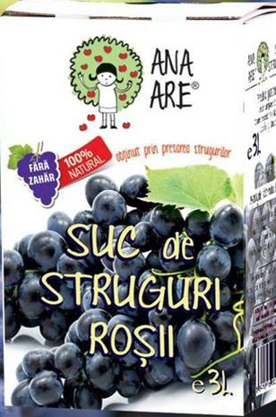 Suc de struguri rosii 100% natural 3L - Ana are 0