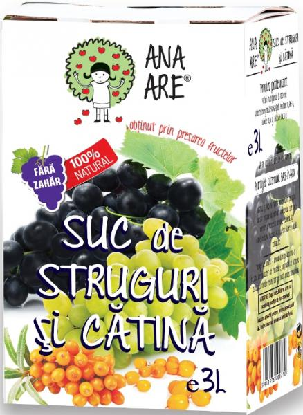 Suc de struguri si catina 100% natural 3L - Ana are 0