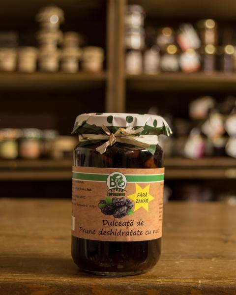 Dulceata de prune deshidratate cu nuci fara zahar 250g - Bio Terra Topoloveni 0