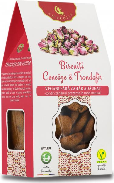 Biscuiti Vegani Coacaze & Trandafir 150g 0