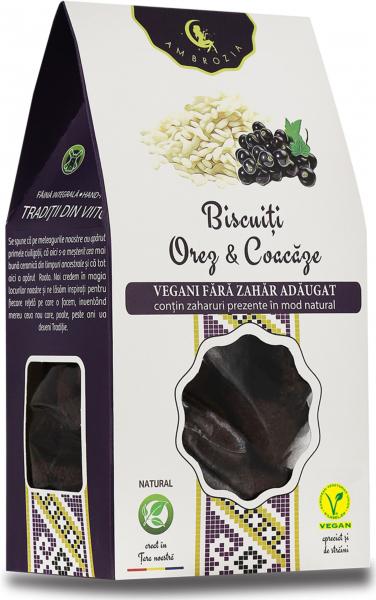 Biscuiți vegani Orez & Coacăze - fara zahar adaugat - 150g 0