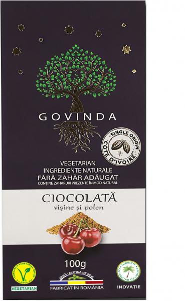 Ciocolata vegana visine & polen 100g 0