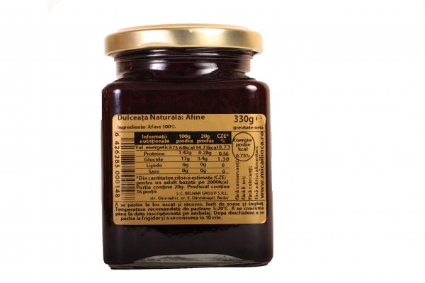 Dulceata naturala de afine 100% -fara zahar- 330g 1