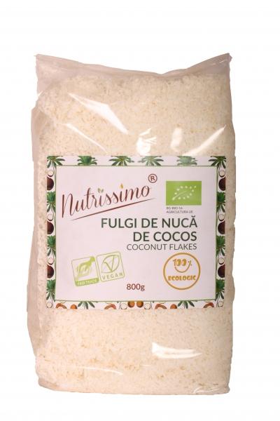 Fulgi de cocos integrali (grasi) raw ECO 800g 0