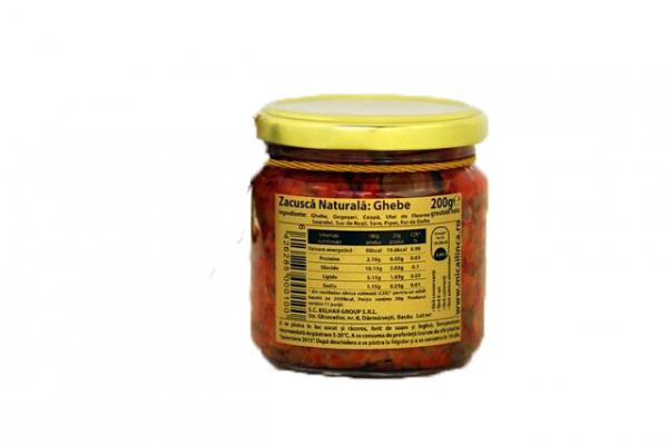 Zacusca naturala de Ghebe - fara zahar 200g 1
