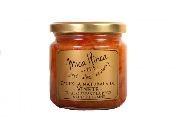 Zacusca naturala de vinete - fara adaos de zahar- 200g 0