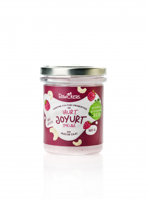 Joyurt - Iaurt din nuci caju cu zmeura ECO - Rawckers [0]