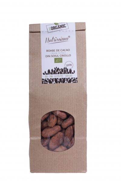 Boabe de cacao cruda Criollo ECO 200 g 0