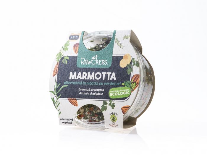 Ricotta Marmotta – brawnză de caju si migdale cu verdeturi ECO proaspătă 150g [0]