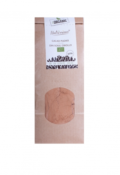 Pudra de cacao cruda Criollo ECO 200 g 0