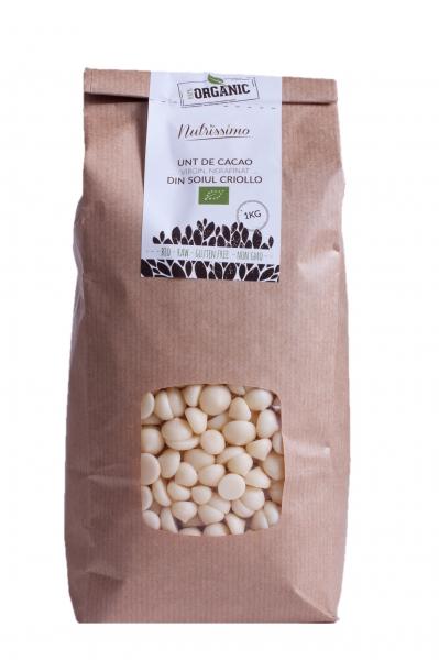Unt de cacao, virgin, nerafinat -ORGANIC- 1 kg 0