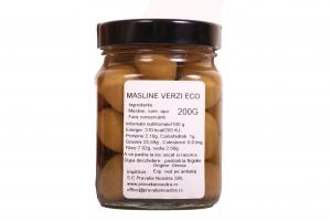 Masline verzi borcan 200g ECO1
