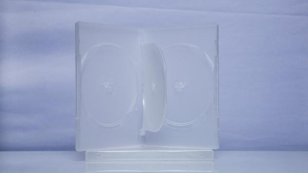 Carcasa DVD pentru 3 discuri (transparenta) 0
