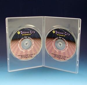 Carcasa DVD transparenta pentru 2 discuri 2