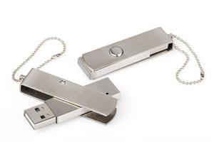 Flash Drive USB personalizat, din OȚEL, model swivel 1