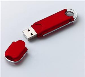 Flash USB drive din plastic cauciucat 1