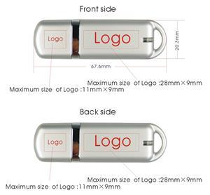 Flash USB personalizat, din material plastic mat și color 3