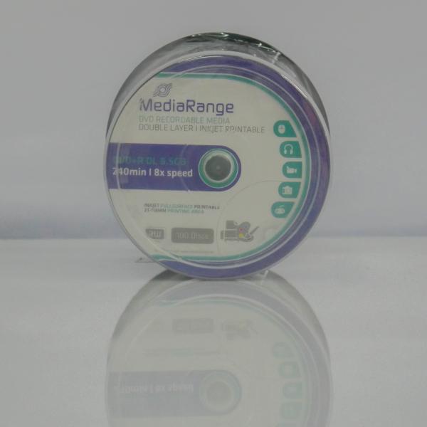 MediaRange DVD+8X DL 8,5 GB Dual Layer printabil ALB MAT 10 bucăți 0