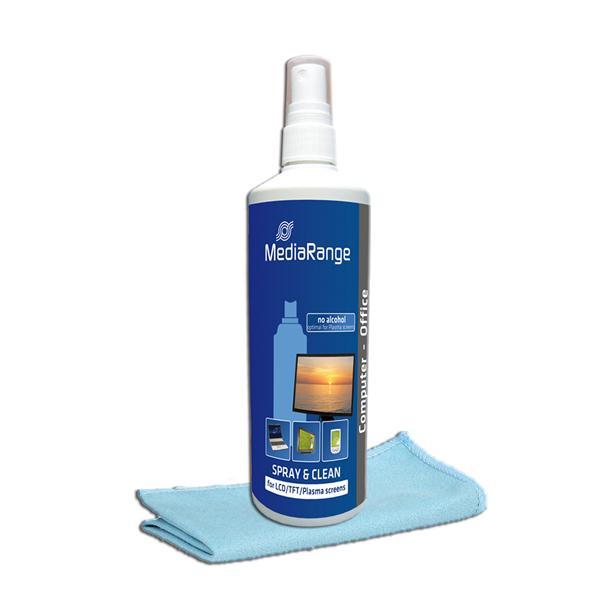 MediaRange - Spray și set de curățare pentru ecrane TFT/LCD/Plasma 250 ml 0