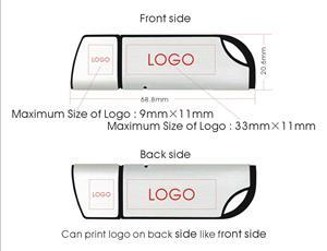 Memory Stick USB personalizat – corp metalic și margini din plastic color 1