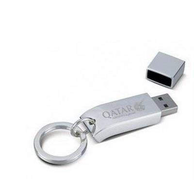 Memory Stick USB personalizat, din OȚEL, cu design fluid 0