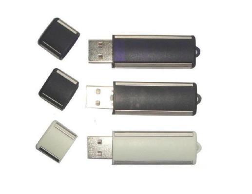 Memory stick USB personalizat din plastic cu margini metalizate 0