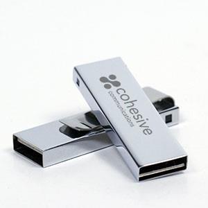 Mini Stick USB personalizat metalic cu clapetă 0