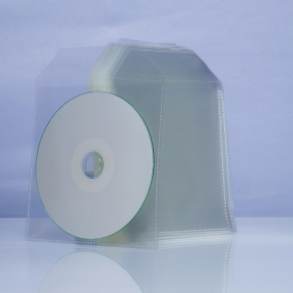 Plic CD plastic transparent 100 bucăți 0