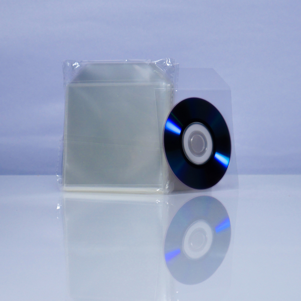 Plic Mini CD sau Mini DVD, transparent 50 bucăți 0