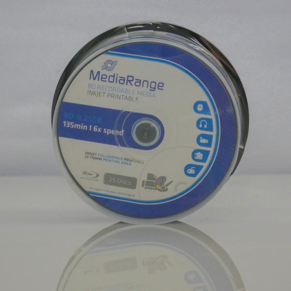 MediaRange BD-R 6X full printabil ALB MAT 10 bucăți 0