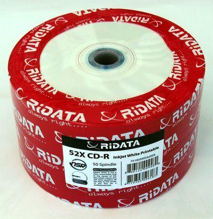 Ridata CD-R full printabil alb mat 50 bucăți 1