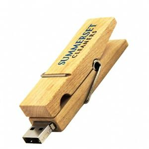 Stick USB - clemă din lemn 4