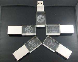 Stick USB personalizat 3D, din CRISTAL transparent 1