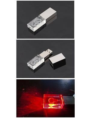 Stick USB personalizat 3D, din CRISTAL transparent 2