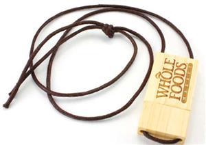 Stick USB personalizat din lemn, cu șnur 3