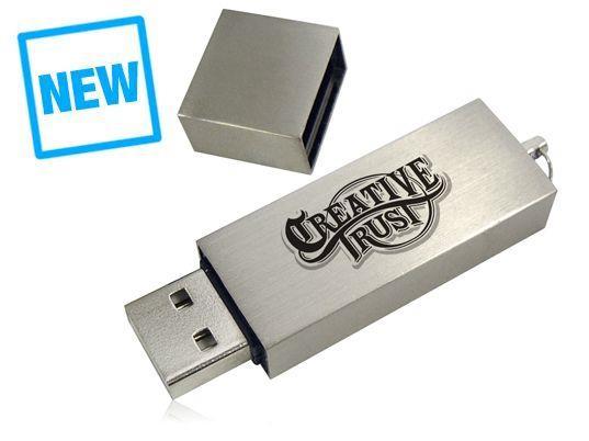 Stick USB personalizat, din METAL, cu design clasic 0