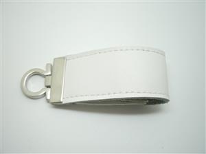 Stick USB personalizat din piele albă 3