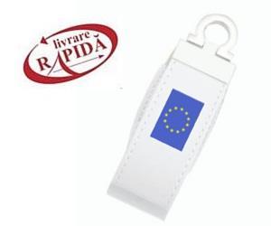 Stick USB personalizat din piele albă 1