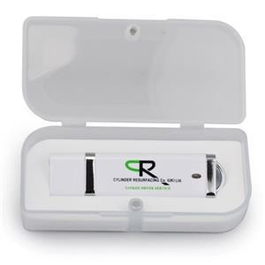 Stick USB personalizat din plastic alb 3
