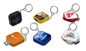 Stick USB swivel personalizat, formă pătrată 1