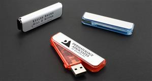 USB Twister, din plastic colorat mat și transparent 1