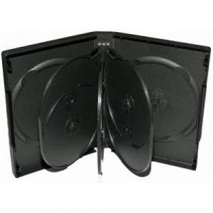 Carcasa DVD pentru 8 discuri (neagra)0