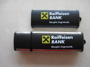 Memory stick USB personalizat din plastic cu margini metalizate1